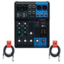 Yamaha MG06 6-Input Stereo Mixer w/ (2) 20' XLR Mic Cables