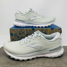 Brooks Adrenaline GTS 20 Women's Running Shoes, White / Silver - Size 8 (B) READ