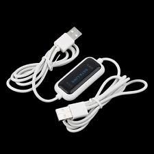 480Mb/s USB 2.0 Laptop PC To PC Online Data Link File Transfer Cable Bridge QT