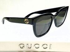 Authentic GUCCI GG0034S 001 Black/Grey Lens 54mm Square Women's Sunglasses