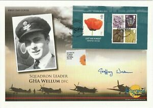 6 NOV 2008 LEST WE FORGET FDC HAND SIGNED BY WW2 SPITFIRE PILOT GHA WELLUM SHS