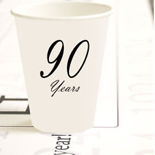 "90th Birthday Party Supplies Classy Black ""90 Years"" Hot / Cold Paper Cups"