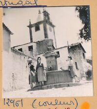 MANGUALDE - 4 Photos Femmes à la Fontaine Battage du Blé Fléau Portugal- Pl 1255