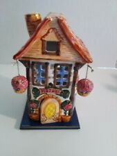 "Avalon Cottage Cozy's ""Hotel"" Collectible Ceramic Tea Light/Candle Holder"