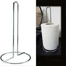 "Kitchen Paper Roll Towel Stand Stainless Tissue Holder 11"" Tissue Pole Stander"