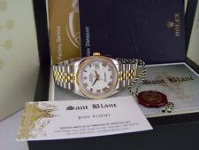 ROLEX - 18kt Gold & Stainless Mens DateJust BOLD White Roman 116233 SANT BLANC