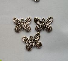 25pcs Tibetan silver butterfly charm pendant 13x17 mm