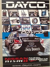 V8 SUPERCARS DAYCO JACK DANIELS DRIVER SIGNED POSTER SNAP ON TOOLS FORD HOLDEN
