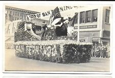 3 RPPCs of Rose Bowl Parade Cars/Floats in Pasadena CA c1917-20