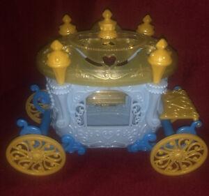 Disney Princess 2013 Mattel Blue Gold Cinderella's Royal Carriage Little Kingdom