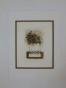 Asian. Japanese, original etching Kenji Ushiku,1970-1989, s/n, expressiomism