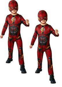 Niños The Flash Disfraz de Superhéroe Infantil Traje Halloween