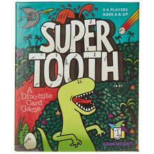 Gamewright Super Tooth Supertooth a Dinomite Dinosaur Card Game