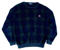 Polo Ralph Lauren Golf Logo Plaid Pullover Vintage USA Sweater Mens Size L Large
