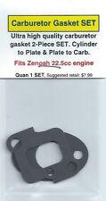 Zenoah 22.5cc Carburetor/Intake Gasket 2 PC SET-Cyl-Plate, Plate-Carb-NIP
