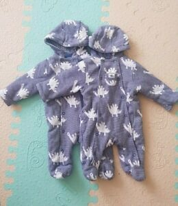 twin baby boys clothes 0-3 months john lewis pramsuite