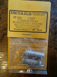 Details West HO #263 Air Tanks -- For 4- & 6-Axle GE Locomotives (Light Cast)