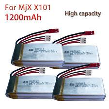4x Li-po Batteries 1200mAh Rechargeable For MJX X101 Quadcopter 30C 7.4V Battery