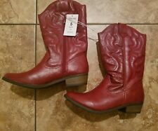 Cowgirl boots red size 5 NWT