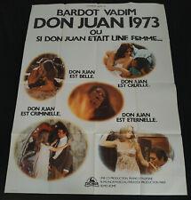 AFFICHE CINEMA ORIGINALE 120/160 DON JUAN 73 - BRIGITTE BARDOT - VADIM - ETAT !