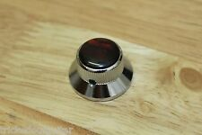 TOG UFO KNOB CHROME WITH RED SHELL TOP FITS USA SPLIT SHAFT POT SET SCREW