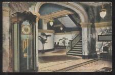 Postcard Los Angeles California Ca view of the lobby The Hotel Alexandria 1907