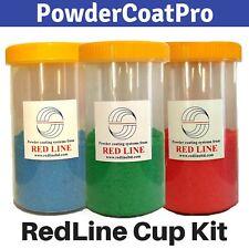 Redline Powder Coating Gun Cups Fits Ez50 And Ez100 Models 3 Pack