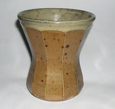 Phil Rogers Studio Pottery - Attractive Multi-Faceted Waisted Vase (Makers Mark)