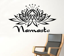Lotus Namaste Wall Decal Yoga Vinyl Sticker Asia Home Art Decor Ideas 39(nse)