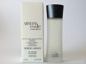 Armani Code SUMMER Pour Homme 2009 1st Edition Eau Fraiche Spray 75ml -2.5 Oz T