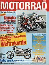 24/81 MOTO 1981 BENELLI 750 era BMW r80gs egli HONDA CBX Kreidler z750 xj750