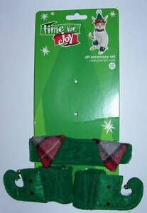 Cat Elf  Costume Set collar and shoes Halloween Christmas Pet