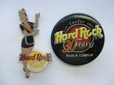 HRC HARD ROCK CAFE HOSTESS GIRL KUALA LUMPUR LE 500 MUSIC 30 RARE PIN BADGE 99p