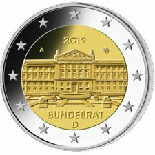 2019 Germany 2 Euro UNC Coin Bundesrat Federal Council 70 Years Munich (D)
