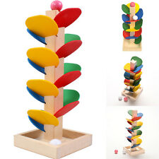 Colorful Wooden Marble Tree Run Track Game Kids Intelligence Educational Toys MI