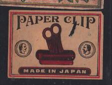 Ancienne   étiquette Allumettes Japon  AAA11653 Pince pour papier trombone