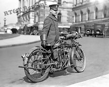 Photograph Vintage Motorcycle Police Officer Washington DC 1924 8x10