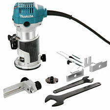 "Makita RT0700CX4 Router/Laminate Trimmer 110V +12Pc 1/4"" Shank Router Cutter Set"