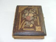 Antique Vtg Photo Album Floral Cover