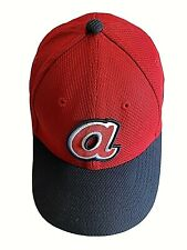 Atlanta Braves Stretchable Fitted BallCap Red Embroidered Hat Size Youth/Teen