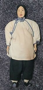 """Antique Door Of Hope Wooden Shanghai Mission Doll Amah Woman Lady 10.5"""""""