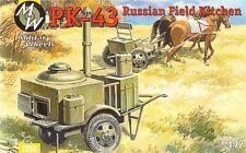MILITARE RUOTE 1/72 pk-43 RUSSO CAMPO CUCINA #7256