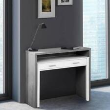 Consolle con scrivania ufficio estraibile 99x36x88h cm scrivanie a scomparsa