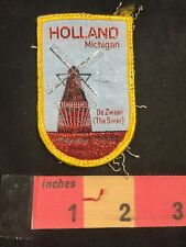 Vtg HOLLAND Michigan Patch DE ZWAAN THE SWAN Windmill Island Municipal Park 88AC