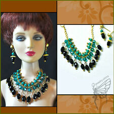 """handmade Tonner Tyler 16"""" doll beaded jewelry set necklace+earring for Tonner"""