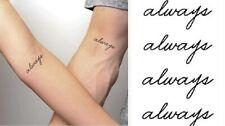 Flash Einmal Temporary Klebe Tattoo Lyrik Always Party Geschenk Strand Neu Wow