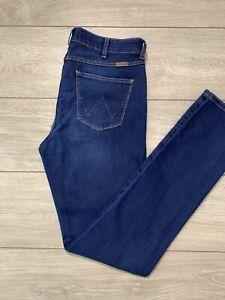 WRANGLER 'DREW' Women's Stretch Slim Blue Denim Jeans   W29-30 L32