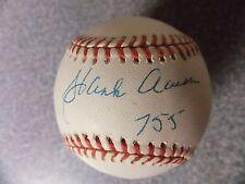 Lot#576  Hank Aaron autographed baseball with inscription, Milwaukee Braves, COA