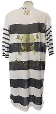 Arlette Kaballo Tunika 44 weiß grau Streifen Pullover Strick Kleid neu Viskose