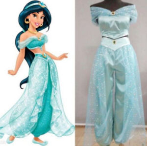 NEW Disney* Princess Jasmine Aladdin Adult Cosplay Party Women Costume Outfit